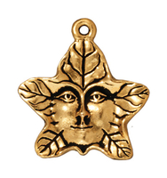 Metal Charms tree spirit antique gold 20mm