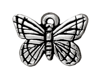 Metal Charms butterfly antique silver 16mm