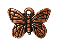 Metal Charms butterfly antique copper 16mm