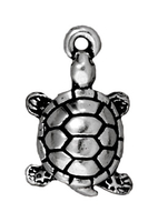 Metal Charms turtle antique silver 11 x 18mm
