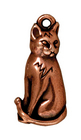 Metal Charms sitting cat antique copper 23mm