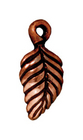 Metal Charms birch leaf antique copper 15 x 7mm