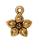 Metal Charms star jasmine antique gold 11mm
