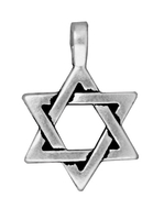 Metal Charms Star of David antique silver large