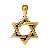 Metal Charms Star of David antique gold large