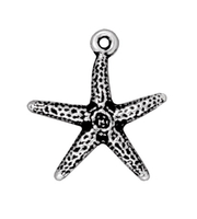 Metal Charms starfish antique silver 20mm