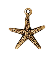 Metal Charms starfish antique gold 20mm