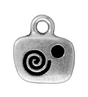 Metal Charms live antique silver 13mm
