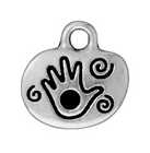 Metal Charms play antique silver 14mm