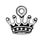 Metal Charms crown antique silver 13 x 15mm