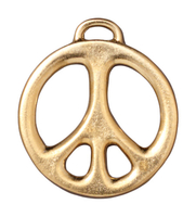 Metal Charms peace sign gold 24mm