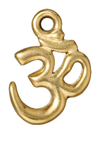 Metal Charms Om gold 13 x 19mm