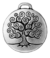 Metal Charms tree of life antique silver 24mm