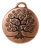 Metal Charms tree of life antique copper 24mm