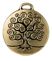 Metal Charms tree of life antique gold 24mm