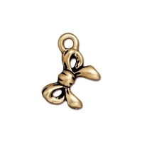 Metal Charms bow antique gold 11.5 x 17mm
