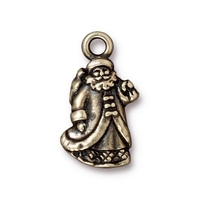 Metal Charms St. Nick antique brass 12 x 22mm