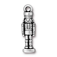 Metal Charms Nutcracker antique silver 8 x 27mm