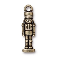 Metal Charms Nutcracker antique brass 8 x 27mm