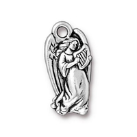 Metal Charms angel antique silver 11 x 23mm