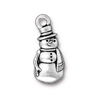 Metal Charms frosty antique silver 10 x 23mm