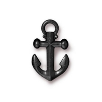 Metal Charms anchor black 20 x 12mm