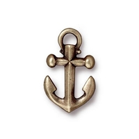Metal Charms anchor antique brass 20 x 12mm