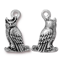 Metal Charms owl antique silver 22.2 x 13.9