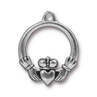 Metal Charms Claddagh antique silver 24 x 20mm