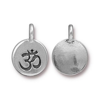 Metal Charms Om antique silver 11.6 x 16.6mm