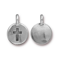 Metal Charms Cross antique silver 11.6 x 16.6mm