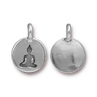 Metal Charms Buddha antique silver 11.6 x 16.6mm
