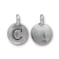 Metal Charms C antique silver 11.6 x 16.6mm