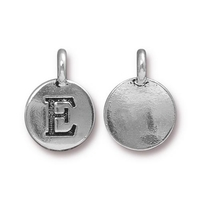 Metal Charms E antique silver 11.6 x 16.6mm
