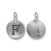 Metal Charms F antique silver 11.6 x 16.6mm