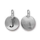 Metal Charms J antique silver 11.6 x 16.6mm