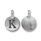 Metal Charms K antique silver 11.6 x 16.6mm