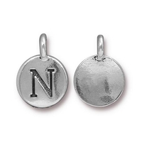 Metal Charms N antique silver 11.6 x 16.6mm