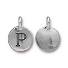 Metal Charms P antique silver 11.6 x 16.6mm
