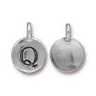 Metal Charms Q antique silver 11.6 x 16.6mm