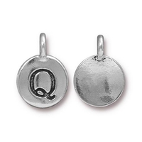 Metal Charms Q antique silver 11.6 x 16.6mm