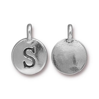 Metal Charms S antique silver 11.6 x 16.6mm