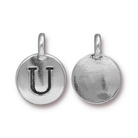 Metal Charms U antique silver 11.6 x 16.6mm