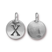 Metal Charms X antique silver 11.6 x 16.6mm