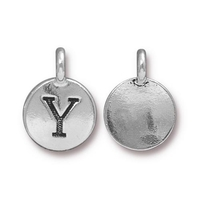 Metal Charms Y antique silver 11.6 x 16.6mm