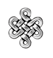 Metal Charms eternity link antique silver 15 x 17mm