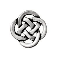 Metal Charms Celtic open link antique silver 10mm