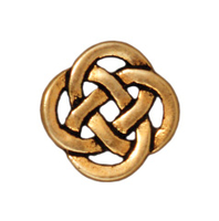 Metal Charms Celtic open link antique gold 10mm