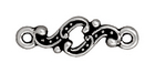lead free pewter 20mm Minuet link antique silver