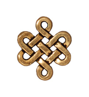 Metal Charms small eternity link antique gold 9 x 11mm